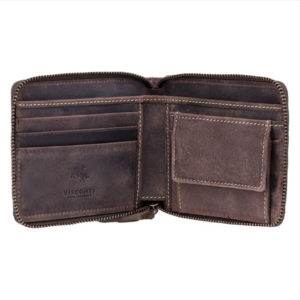 zip around leather wallet