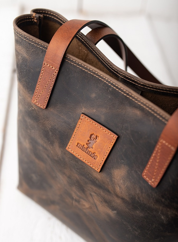 Distressed Leather Tote