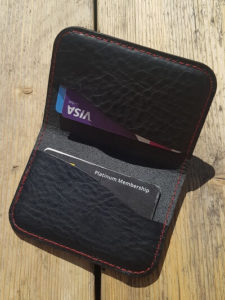 Leather Cash and Catd Holder