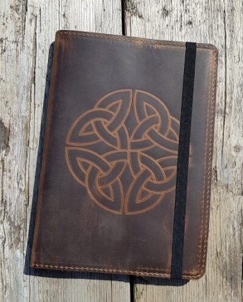Trinity Knot Leather Notebook
